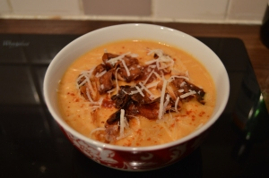parsnip and chorizo soup